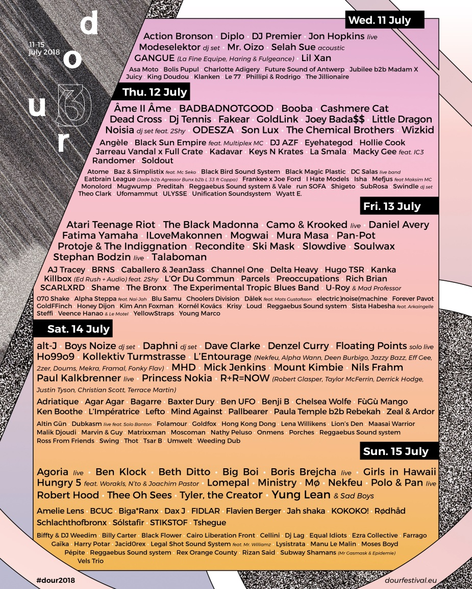 Dour2018_Full_Lineup